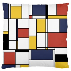 De Stijl Abstract Art Large Flano Cushion Case (two Sides)