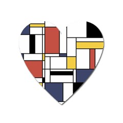 Abstract Art Of Avant Garde Heart Magnet by FunnyCow
