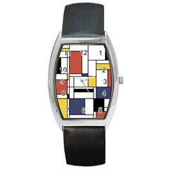 Abstract Art Of Avant Garde Barrel Style Metal Watch by FunnyCow