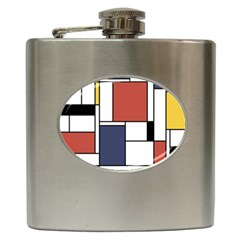 Neoplasticism Abstract Art Hip Flask (6 Oz) by FunnyCow