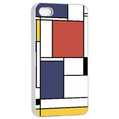 Neoplasticism Abstract Art Apple Iphone 4/4s Seamless Case (white) by FunnyCow