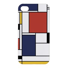 Neoplasticism Abstract Art Apple Iphone 4/4s Premium Hardshell Case by FunnyCow