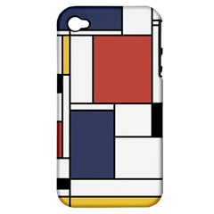 Neoplasticism Abstract Art Apple Iphone 4/4s Hardshell Case (pc+silicone) by FunnyCow
