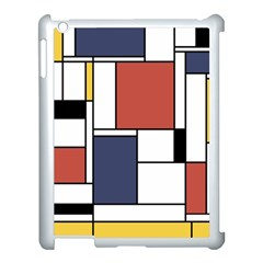 Neoplasticism Abstract Art Apple Ipad 3/4 Case (white) by FunnyCow