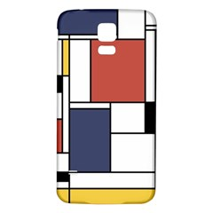 Neoplasticism Abstract Art Samsung Galaxy S5 Back Case (white) by FunnyCow