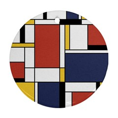 Abstract Art Of De Stijl Ornament (round)