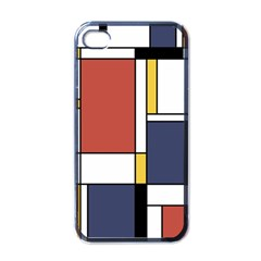 Abstract Art Of De Stijl Apple Iphone 4 Case (black) by FunnyCow