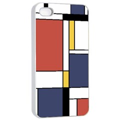 Abstract Art Of De Stijl Apple Iphone 4/4s Seamless Case (white) by FunnyCow