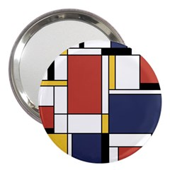 Abstract Art Of De Stijl 3  Handbag Mirrors by FunnyCow