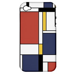 Abstract Art Of De Stijl Apple Iphone 4/4s Hardshell Case (pc+silicone) by FunnyCow