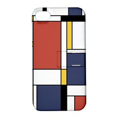 Abstract Art Of De Stijl Apple Iphone 4/4s Hardshell Case With Stand by FunnyCow