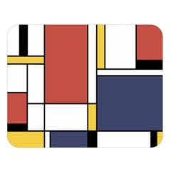 Abstract Art Of De Stijl Double Sided Flano Blanket (large)  by FunnyCow