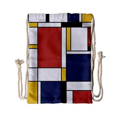 Abstract Art Of De Stijl Drawstring Bag (small) by FunnyCow