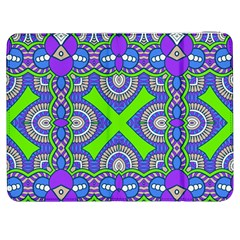 Purple Green Shapes                                  Htc One M7 Hardshell Case by LalyLauraFLM