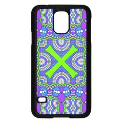 Purple Green Shapes                                  Apple Ipad Air Flip Case by LalyLauraFLM