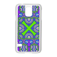 Purple Green Shapes                                  Motorola Moto G (1st Generation) Hardshell Case by LalyLauraFLM