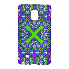 Purple Green Shapes                                  Samsung Galaxy Note 4 Leather Folio by LalyLauraFLM