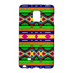 Distorted Colorful Shapes And Stripes                                   Samsung Galaxy Note 4 Leather Folio by LalyLauraFLM
