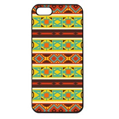 Ovals Rhombus And Squares                                    Apple Iphone 5 Seamless Case (black) by LalyLauraFLM