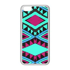Ovals And Rhombus                                    Apple Iphone 5c Seamless Case (black) by LalyLauraFLM