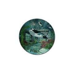 Wonderful Orca In Deep Underwater World Golf Ball Marker (10 Pack) by FantasyWorld7