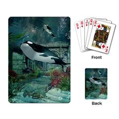 Wonderful Orca In Deep Underwater World Playing Card by FantasyWorld7