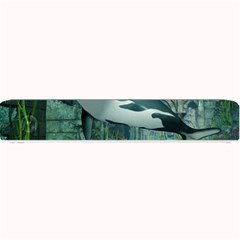 Wonderful Orca In Deep Underwater World Small Bar Mats by FantasyWorld7