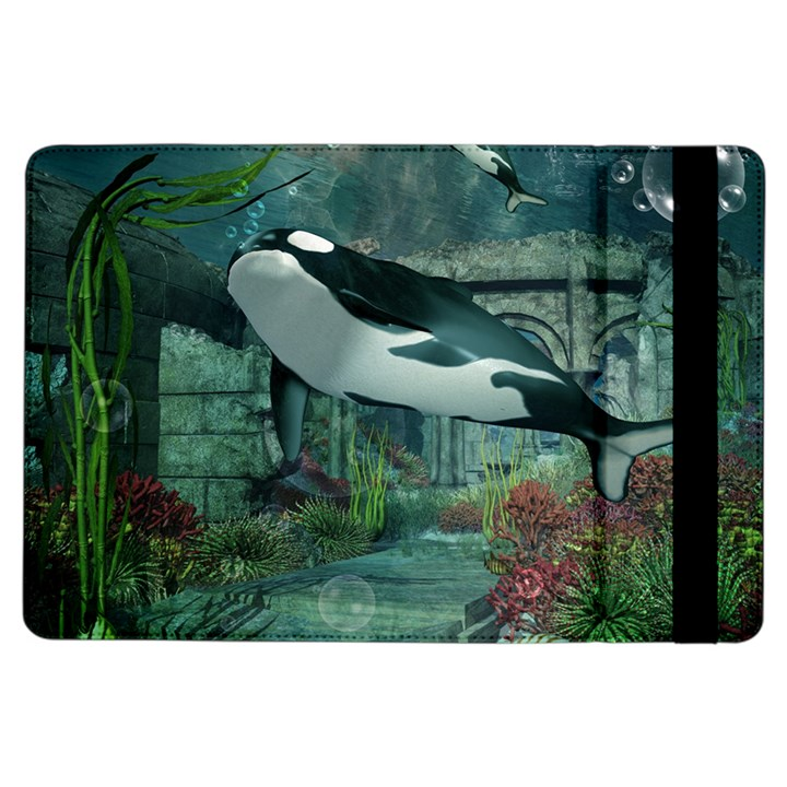 Wonderful Orca In Deep Underwater World iPad Air Flip