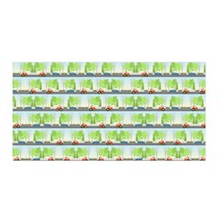 Cars And Trees Pattern Satin Wrap by linceazul