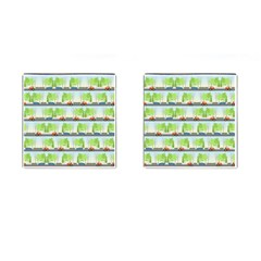 Cars And Trees Pattern Cufflinks (square) by linceazul
