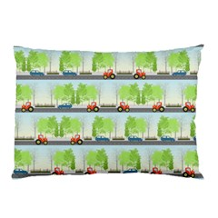 Cars And Trees Pattern Pillow Case (two Sides) by linceazul