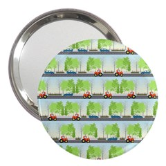 Cars And Trees Pattern 3  Handbag Mirrors by linceazul