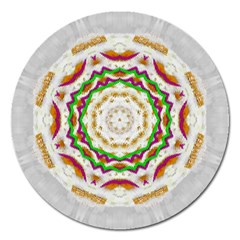 Fauna In Bohemian Midsummer Style Magnet 5  (round) by pepitasart