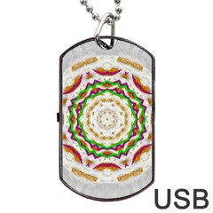 Fauna In Bohemian Midsummer Style Dog Tag Usb Flash (two Sides) by pepitasart