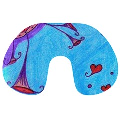 Hearts And Blue Travel Neck Pillows