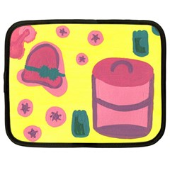 Candy Pink Hat Netbook Case (large) by snowwhitegirl