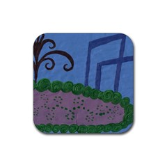 Purple Shoe Rubber Coaster (square)  by snowwhitegirl