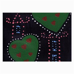 Christmas Hearts Large Glasses Cloth (2 Side) by snowwhitegirl