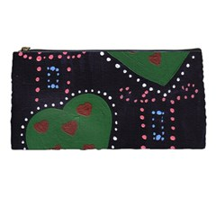 Christmas Hearts Pencil Cases