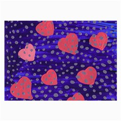 Underwater Pink Hearts Large Glasses Cloth (2 Side)