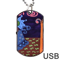 Jack In The Box Flower Dog Tag Usb Flash (two Sides)