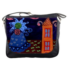 Jack In The Box Flower Messenger Bags