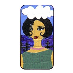 Girl By The Sea Apple Iphone 4/4s Seamless Case (black)