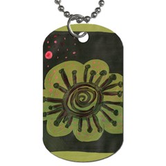 Flower Spitting Out Pink Pollen Dog Tag (two Sides) by snowwhitegirl