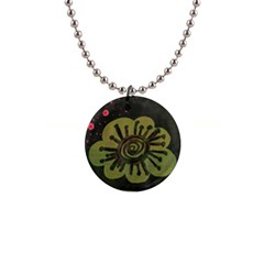 Flower Spitting Out Pink Pollen Button Necklaces by snowwhitegirl