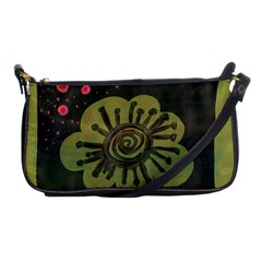 Flower Spitting Out Pink Pollen Shoulder Clutch Bags by snowwhitegirl