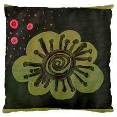Flower Spitting Out Pink Pollen Large Cushion Case (one Side)