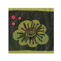 Flower Spitting Out Pink Pollen Small Satin Scarf (square) by snowwhitegirl