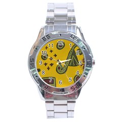Indian Violin Stainless Steel Analogue Watch by snowwhitegirl
