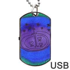 Starry Egg Dog Tag Usb Flash (one Side) by snowwhitegirl
